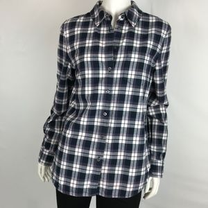 Adriano Goldschmied Cotton Flannel Plaid Shirt